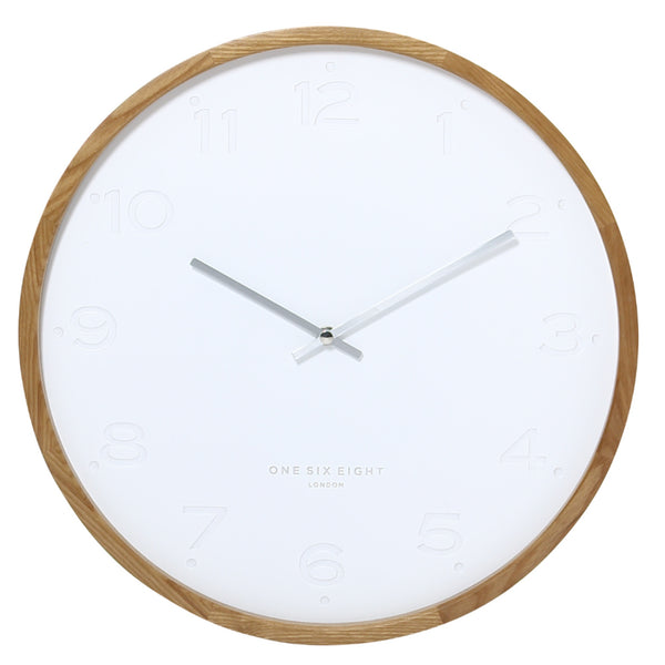 Freya Wall Clock 50cm White Hello Pattern