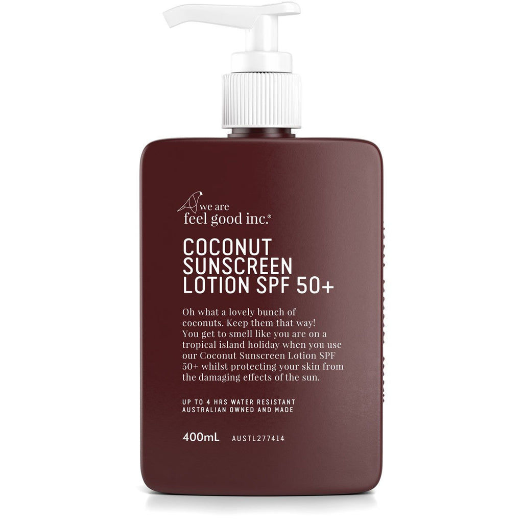 We Are Feel Good Inc Coconut Sunscreen Lotion 400ml