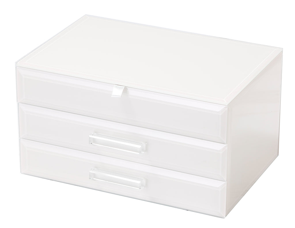 Gabrielle Large Jewellery Box White Medium Hello Pattern