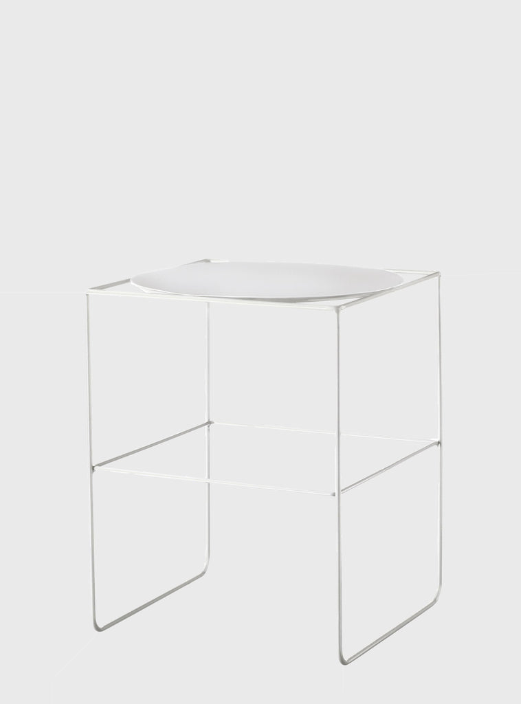 Evergreen Collective Alto Pot Stand Short White