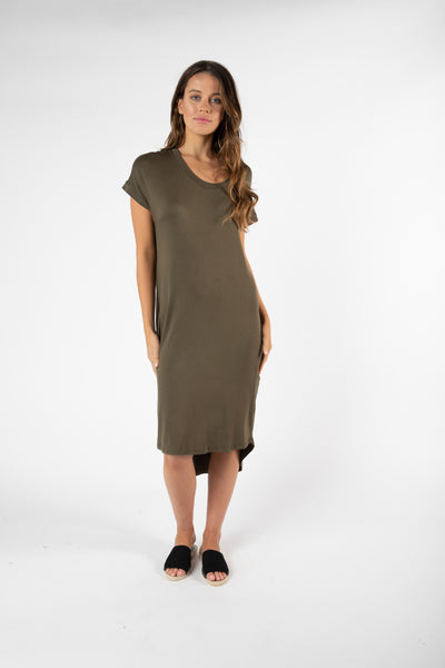 Betty Basics Avalon Dress Khaki Hello Pattern