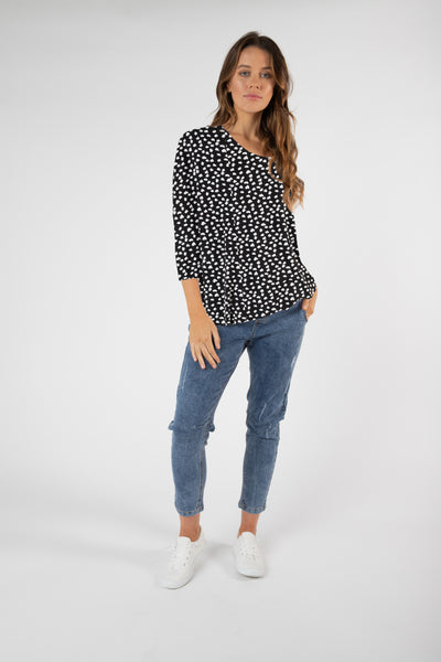 Betty Basics Atlanta 3/4 Sleeve Top Hello Pattern