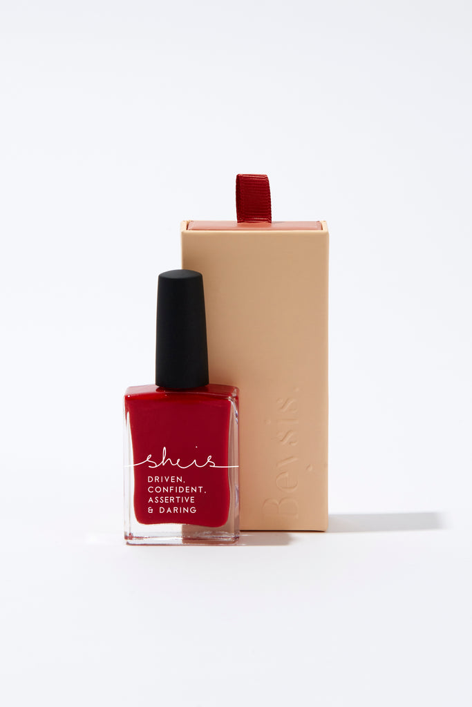 Beysis She Is Nail Polish - Red Hello Pattern