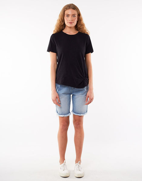 Foxwood Knot Front Crop Tee