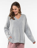 Elm Morning Mist Knit Grey Marle