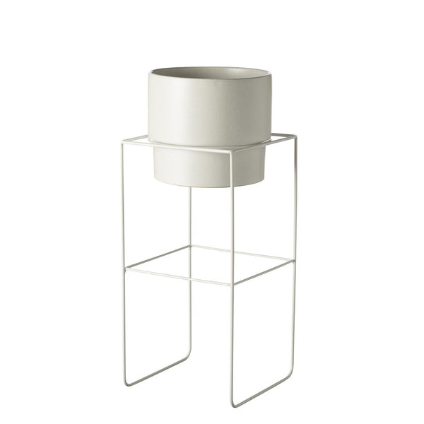 Evergreen Collective Alto Pot Stand Tall White