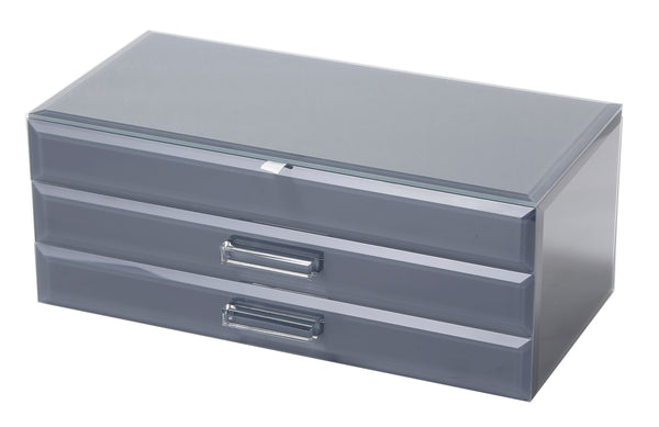 Gabrielle Large Jewellery Box Grey Large Hello Pattern