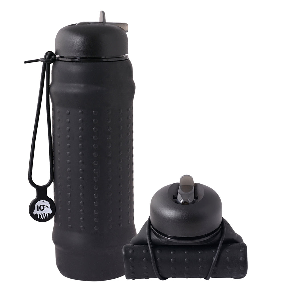 Rolla Bottle - Black & Black Hello Pattern