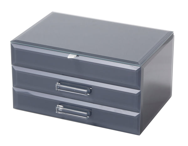 Gabrielle Large Jewellery Box Grey Medium Hello Pattern