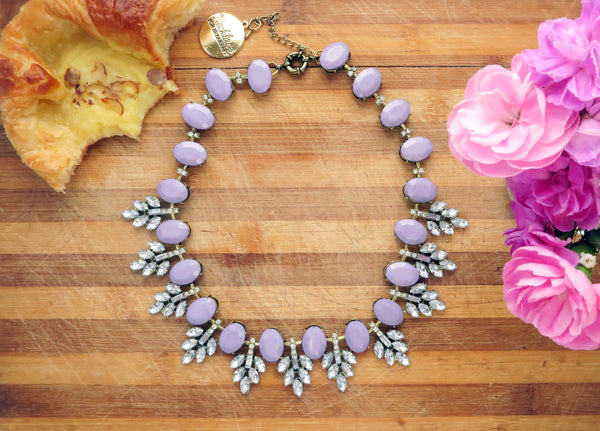 Lilac Sugar Statement Necklace
