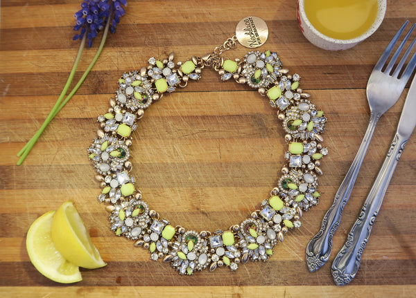 Lemon Drizzle Statement Necklace