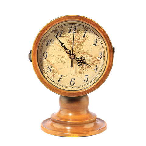 Double sided desk table clock outand aboutshop double sided table clock with map of the world gumiabroncs Image collections