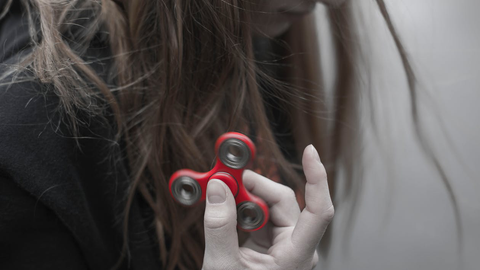 Red Fidget Spinner Toy