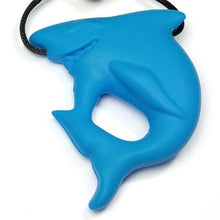 Shark Pendant Chewable Necklace Blue - Happy Hands Toys