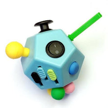 12 Sided Fidget Cube Blue - Happy Hands Toys