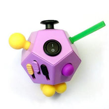 12 Sided Fidget Cube Purple - Happy Hands Toys