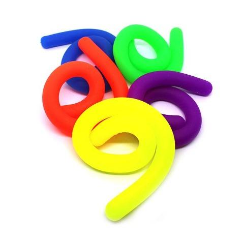 5 Pcs Stretchy Silicone Noodle Fidgets - Happy Hands Toys