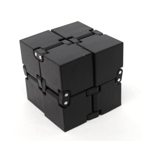 Small Infinity Cube Fidget Black  - Happy Hands Toys