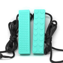 Brick Sensory Necklace Turquoise - Happy Hands Toys