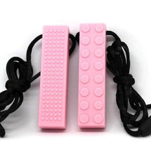 Brick Sensory Necklace Pink - Happy Hands Toys