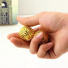 Spiky Magnetic Balls Gold - Happy Hands Toys