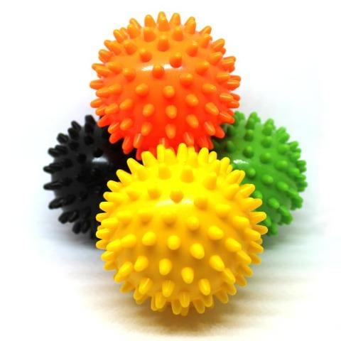 Sensory Spiky Balls Showing 4 Colors - Happy Hands Toys