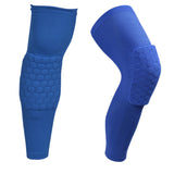 Honeycomb Safety Padded Sports Kneepad and Compression Sleeve