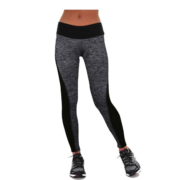 Black/Gray Women's Fitness Leggings