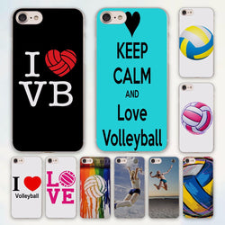 I LOVE Volleyball Hard Plastic Cover for All Apple iPhones
