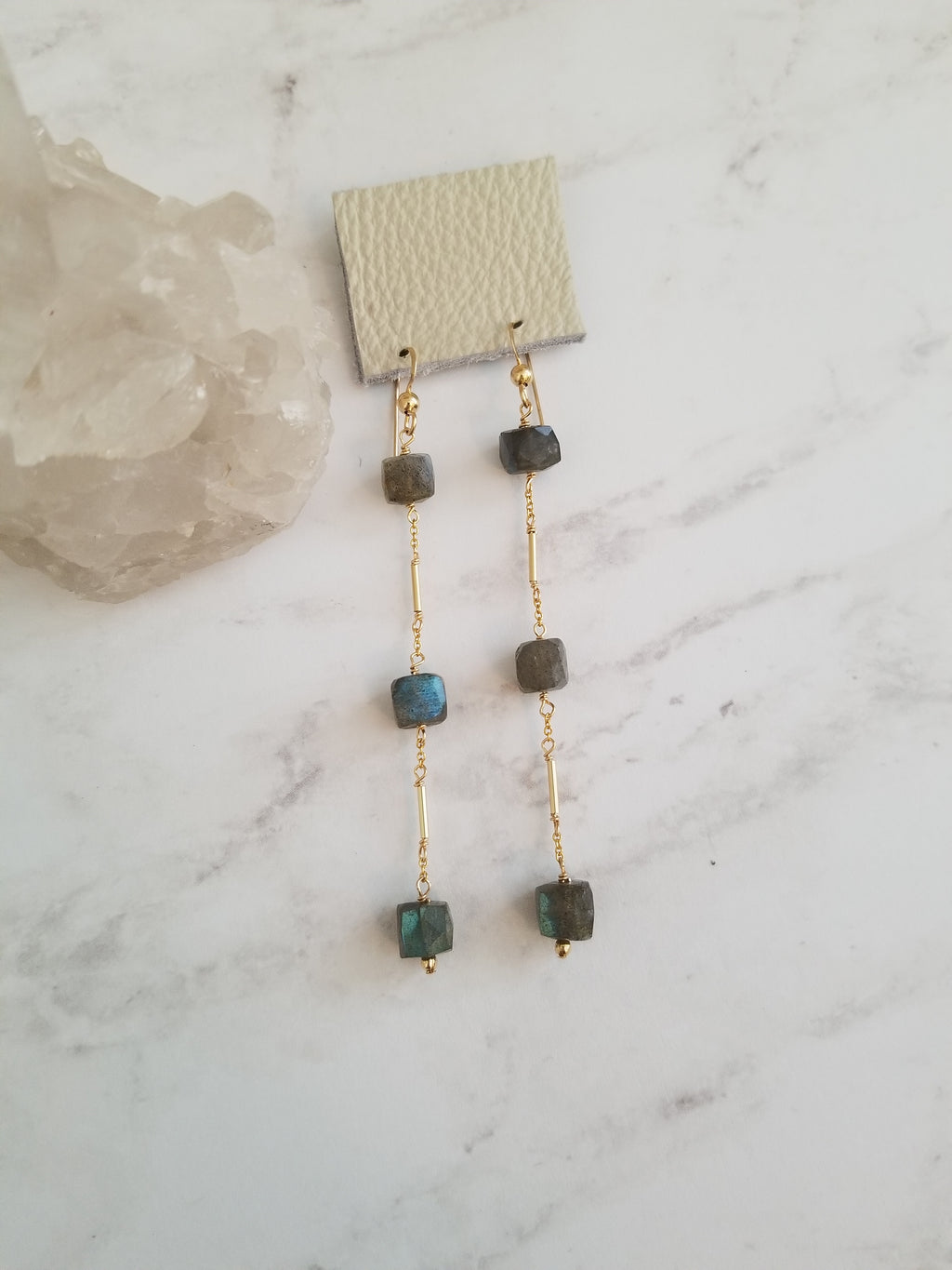 Ariel Labradorite Earrings