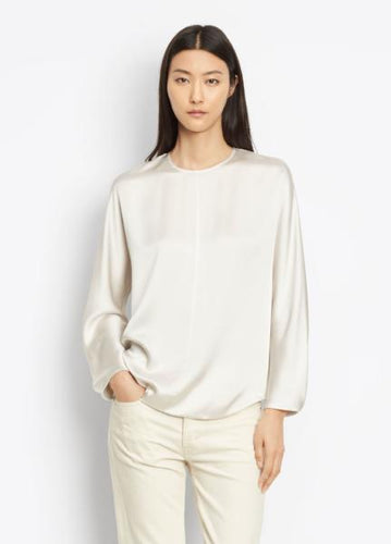 VINCE - SLIT BACK BLOUSE - V453211919