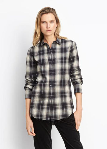 VINCE - PLAID BUTTON UP - V453611950