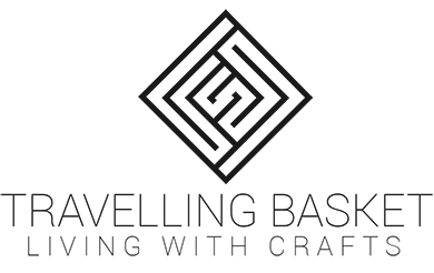 Travelling Basket Logo - willow baskets, pottery, wooll, home products and bee equipment