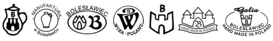 Our Polish Pottery Producers Trademarks Bolesławiec Ceramika
