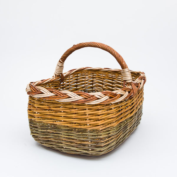 Colourful Short Handled Willow Shopper