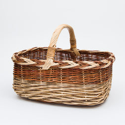 Short Handled French Willow Pleat Shopper