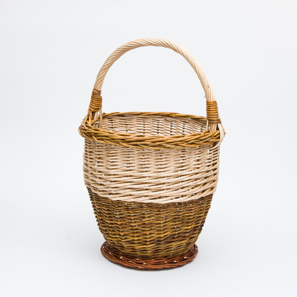 Stripped Willow Potato Basket