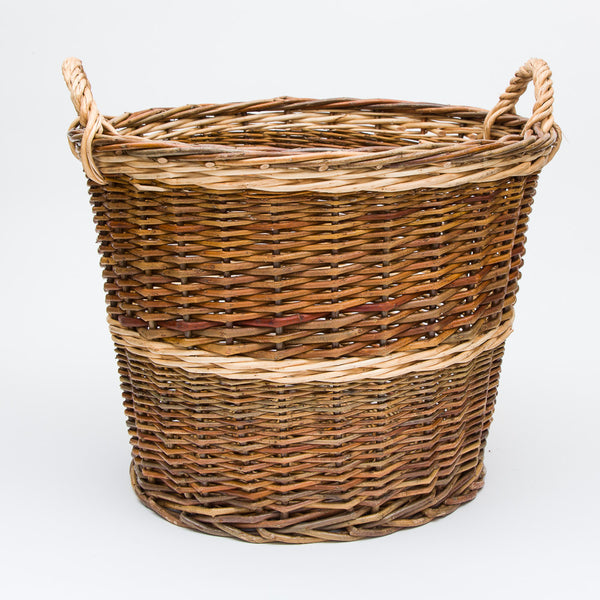 Small Rustic Willow Log Basket