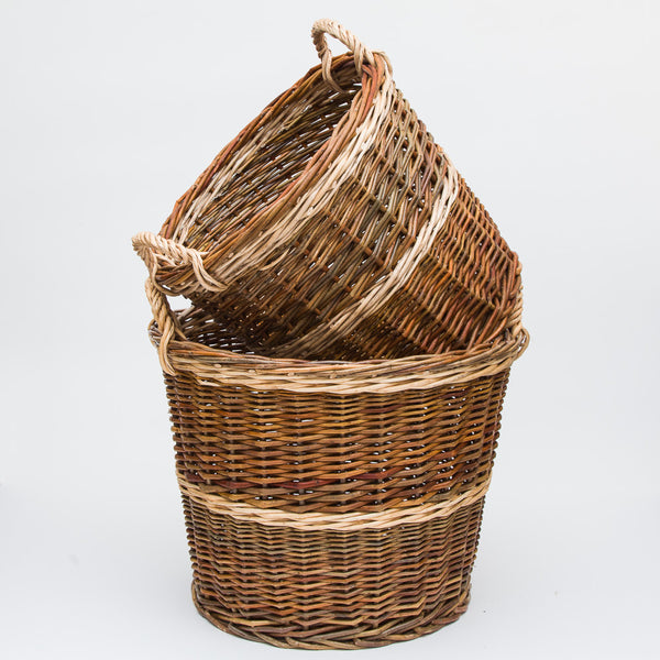 Rustic Willow Log Basket