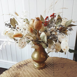Dried Flower Seasonal Vase Arrangement Workshop - Thursday 7th November