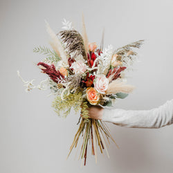 Luxury bouquets, bohemian bridal floristry, natural fresh and dried flowers, bespoke arrangements and wedding flowers from Edinburgh Florist