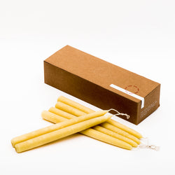 Organic Beeswax Taper Candles Box