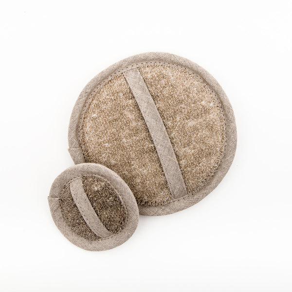 Large Linen Loofah Natural Oat