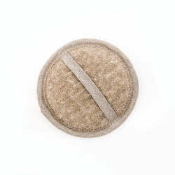 Small Linen Loofah Natural Oat
