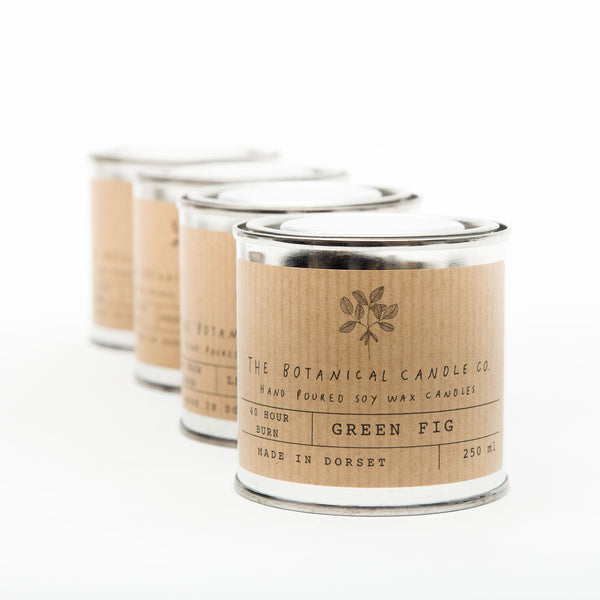 Tin Botanical Candle