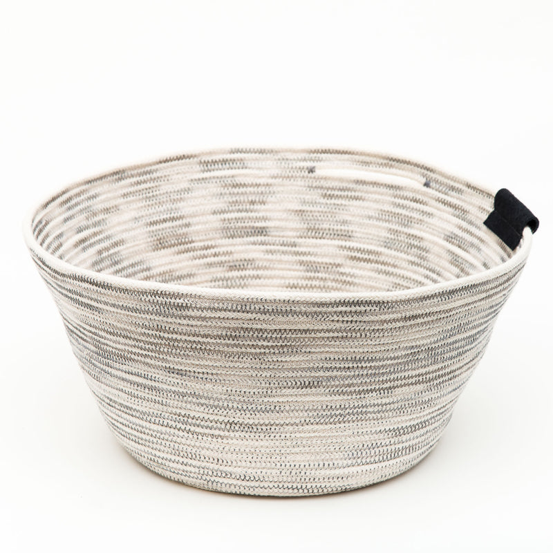 Large Cotton Rope Basket With Slit Handle