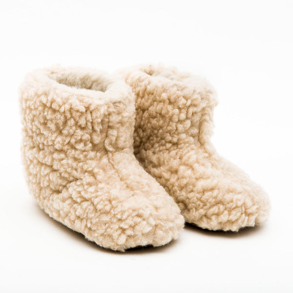 Natural Pink Child Mountain Slipper Boots