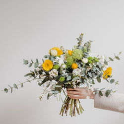 Spring flowers, seasonal bouquets, natural colourful flowers from local Edinburgh florist