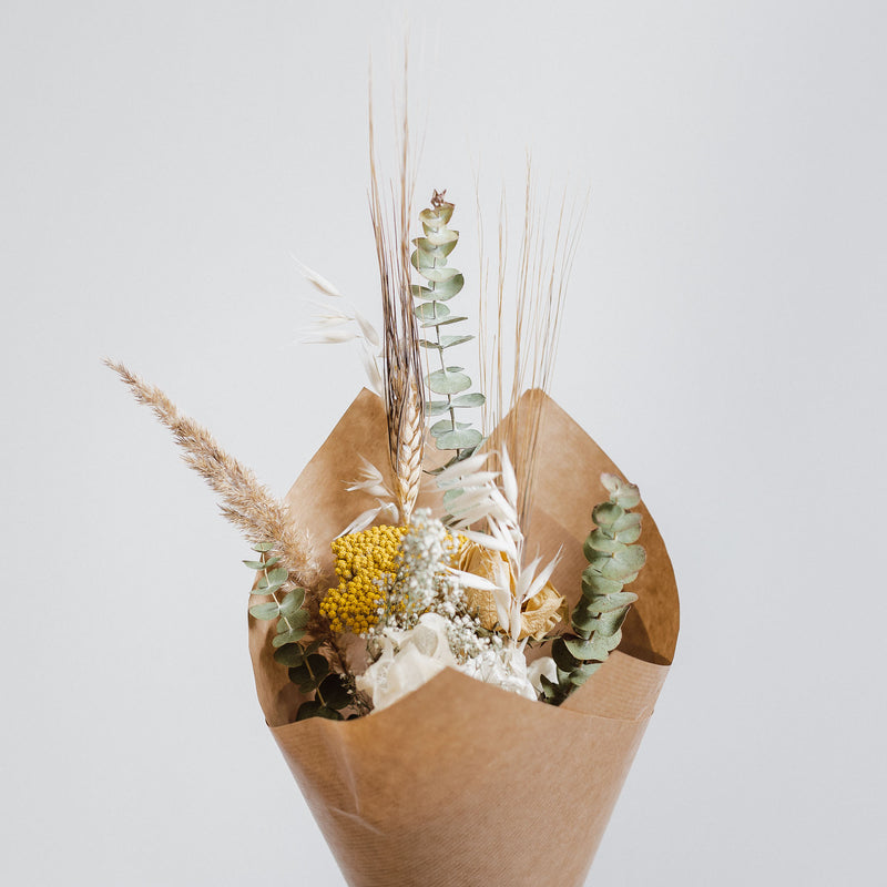 Natural dried flower posies and bouquets at trendy Edinburgh and Midlothian florist