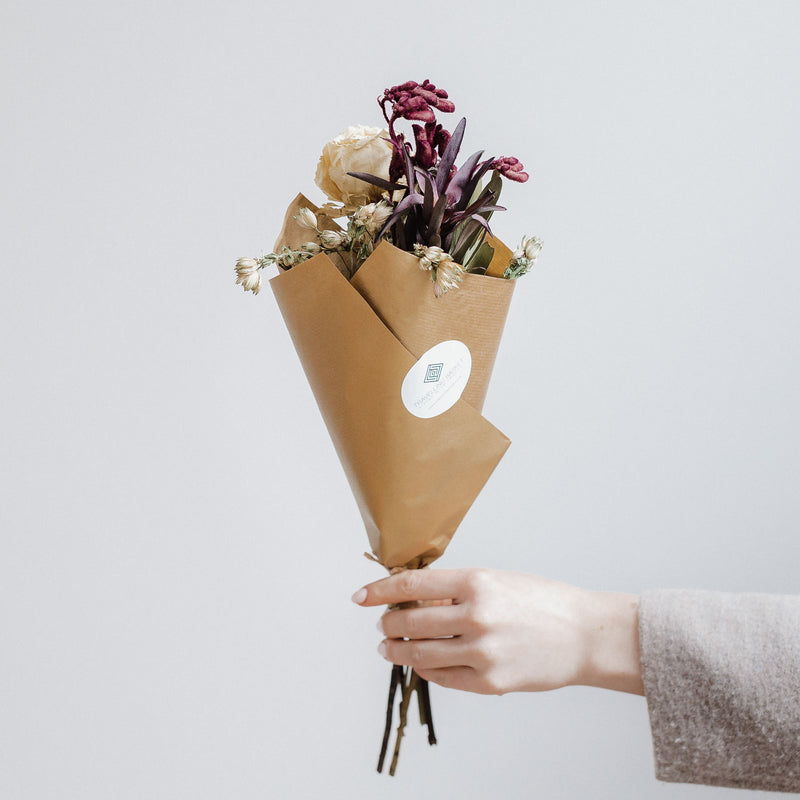 Natural dried rose flower bouquet Edinburgh Florist